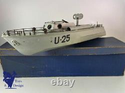 Jouet Ancien Gil Bateau Militaire Vedette U25 Mecanique C. 1950 No Jep Marklin