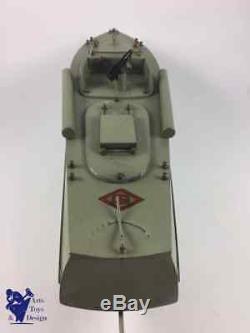 Jouet Ancien Gil Rare 1ere Version 1950 Bateau Militaire Vedette U25 Electrique