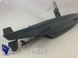 Jouet Ancien Gil Sous Marin S 63 1er Type Etat Neuf Rare 1960 Tin Toy Submarine