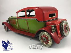 Jouet Ancien Ingap 3000 Grande Voiture Mecanique Alfa Romeo 1928 Version Luxe