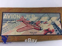Jouet Ancien Jep Avion Tele Commande Mecanique Vers 1950
