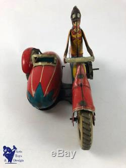Ancien Motorcycle Wind Up Jml Side Mecanique Moto Car Tin Jouet Toy Yfv7Iyb6mg