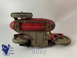 Jouet Ancien Jml Moto Side Car Tole Mecanique L. 20 CM Vers 1930 No Tippco Rico