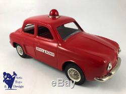 Jouet Ancien Joustra Ref 2082 Renault Dauphine Service Incendie Etat Neuf