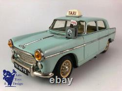 Jouet Ancien Joustra Ref 2083 Peugeot 404 Taxi Electrique Tole Av Boite