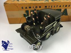 Jouet Ancien Joustra Ref 701 Camion Militaire Avec Canon Avec Boite