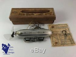 Jouet Ancien Kk Japan No Lehmann Rare Air Ship Zeppelin Vers 1935 Long Env 20cm