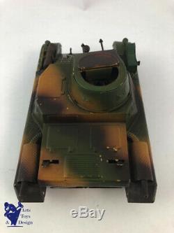 Jouet Ancien Lineol Ref 1280 Tank Panzer Mecanique Vers 1935 L 19cm Tres Rare