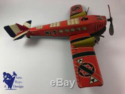 Jouet Ancien ML Martinan & Larnaude Avion Tole Mecanique N°5 Vers 1935 Env 51cm