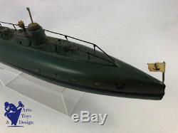 Jouet Ancien Marklin 5110/40 Clockwork Submarine Sous Marin 40cm Av Boite C. 1930