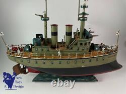 Jouet Ancien Marklin Bateau Early Boat All Original Battleship L 53cm Vers 1904