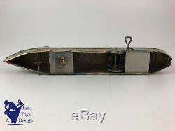 Jouet Ancien Memo Bateau Transatlantique Normandie Tole Mecanique Vers 1935 33cm