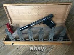 Jouet Ancien Pistolet et Cibles Basculantes Jeu de Tir Importé des Etat Unis