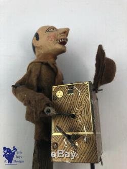 Jouet Ancien Sijim No Martin Ref 33 Le Joueur D'orgue Vers 1910