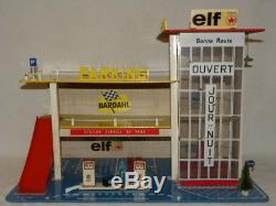 Jouet Ancien Superbe Garage Station Service Du Parc Elf Caltex Depreux Starlux