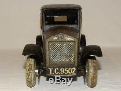Jouet Ancien Tole Voiture Limousine Mecanique Tippco Tco Vintage Tin Toy Car Jep