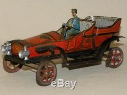 Ancien Voiture Jouet J Sif Tin Antique Toy Mecanique De P Jep Tole H29EID