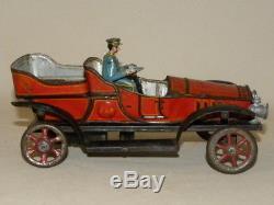 Jouet Ancien Tole Voiture Mecanique J De P Sif Jep Antique Tin Toy Bing Marklin