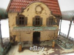 Jouet Ancien Train Gare Fv Ou Bing 1900