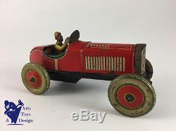 Jouet Ancien Voiture De Course Racer Pre War Made In Japan 16 CM Tin Toy Car