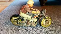Jouet Ancien en tôle moto Arnold MAC 700. MADE in US ZONE GERMANY