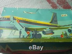 Jouet Avion Boieng 707 Avec Sa Boite Teleguide Vintage Annees 70 Air France
