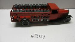 Jouet Citroen Camion laitier rouge