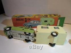Jouet Citroen Commando Paya Break Ami 6 Caravane Rare Original Jouet Ancien