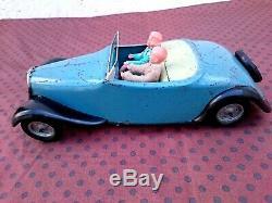 Jouet Citroen Rare Traction Cabriolet Jrd Tole Bon Etat Fonctionne Cij Jep Cr