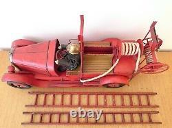 Jouet Citroen Tole Camion De Pompiers Mecanique Complet Bon Etat Jep Jrd Cr Cij