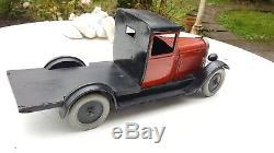 Jouet Citroën tôle C4 plateau avec chargement de sacs