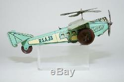 Jouet Tole Ancien Avion A Clef Rico, Old Toy, Altes Spielzeug