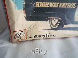 Jouet ancien CADILLAC HIGHWAY PATROL ATC ASAHI TOYS WithBOX 40 cm