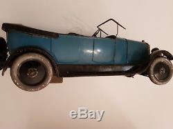 Jouet ancien Citroën TORPEDO B14 Bleue en tôle dim 40 cm avec boîte d'origine
