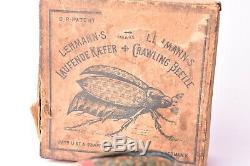 Jouet ancien. Scarabée Lehmann Allemagne, vers 1900, tôle lithographiée