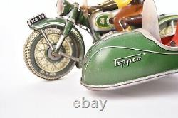 Jouet ancien. Side-car TCO Tipp &Co, Allemagne. Circa 1958