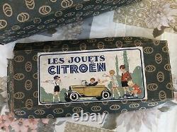 Jouet ancien Tôle boîte vide Les Jouets Citroen Numéro 70 Cabriolet Citroën C6