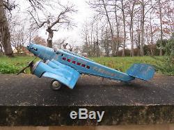 Jouet ancien, avion tôle Joustra
