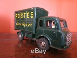 Jouet ancien camion tôle Joustra + boîte