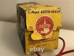 Jouet ancien en Tôle Austin Healey fioguidée avec boite dorigine Joustra 2605