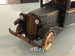 Jouet ancien en Tôle CR Charles Rossignol Service Routiers Renault Clockwork
