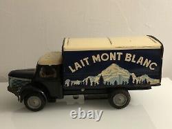 Jouet ancien en Tôle à friction JMB Berliet GLR Lait Mont Blanc