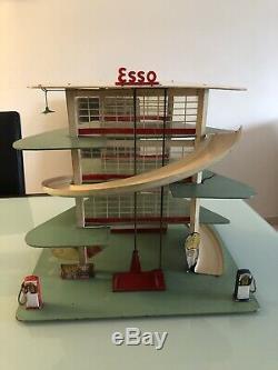 Jouet ancien garage Esso Azur Depreux