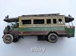 Jouet ancien mécanique Autobus Charles Rossignol 976