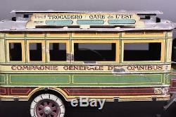 Jouet anciens. Bus parisien De Dion Bouton C. Rossignol