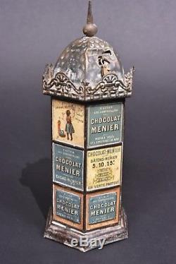 Jouet anciens. Colonne Morris distributeur de chocolats. Circa 1900