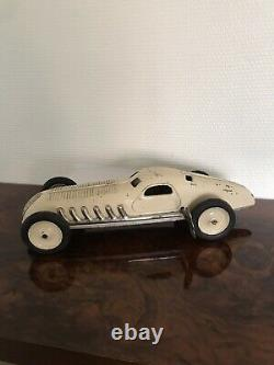 Jouet en tole ancienne VOITURE DE COURSE JEP, Ancienne belle Bugatti 36 Cm