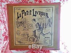 Jouet mécanique ancien le petit livreur en boîte d'origine F. Martin ca 1911
