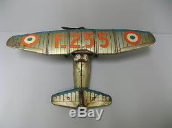 Jouet mécanique en tôle JEP. Avion D27-F255