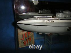 Jouet tole ancien sous marin JEP nautilus 919 bateau bassin